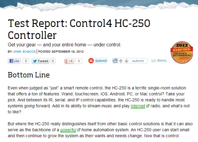 HC-250 review